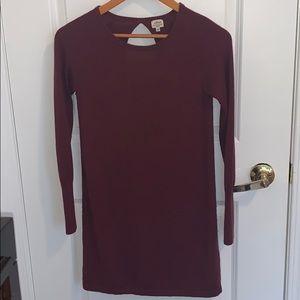 Aritzia Wilfred silk and cashmere knit dress xxs